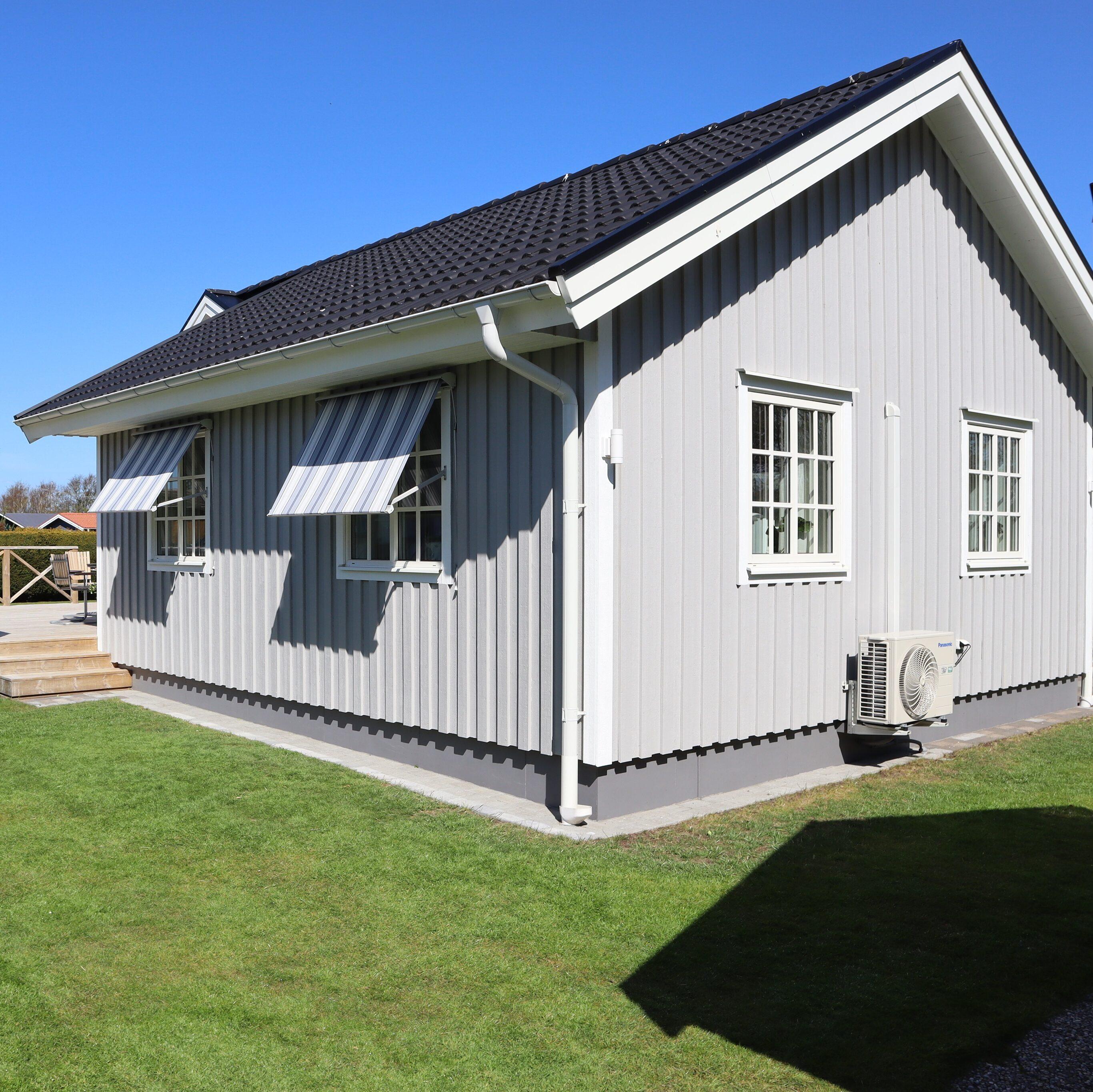 Ljusgrå fasad