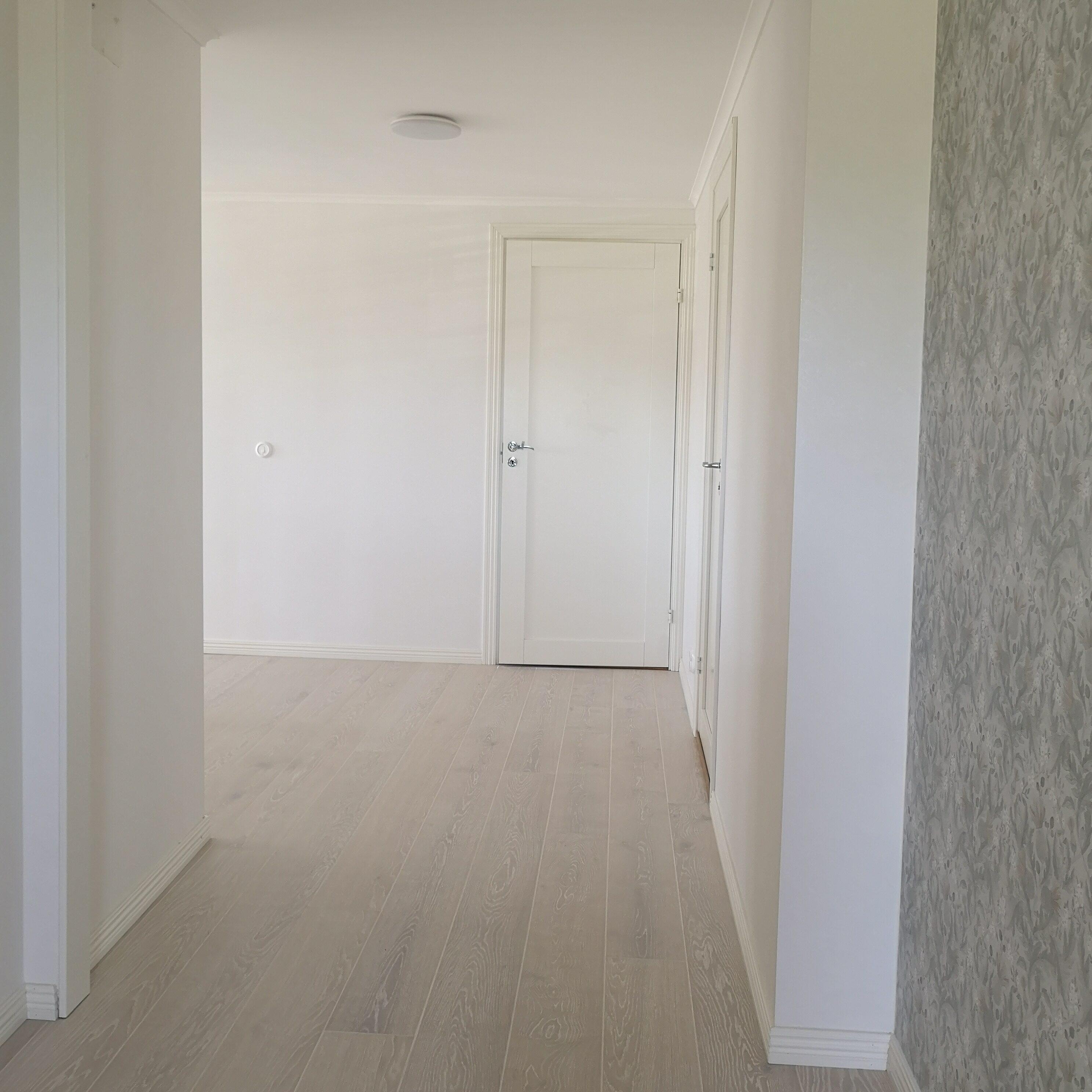 Nybyggt hus, interiör